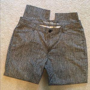 Gap patterned cropped pants